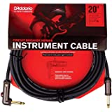 D'Addario 20' Circuit Breaker Instrument Cable with Latching Cut-Off Switch, Right Angle Plug