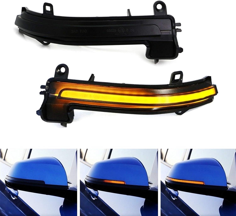 MMGANG/® 2Pcs Dynamic Steering Signal Led Rear View Mirror Indicating Flash Fit For Bmw F20 F30 F31 F21 F22 F23 F32 F33 F34 X1 E84 1 2 3 4 Se