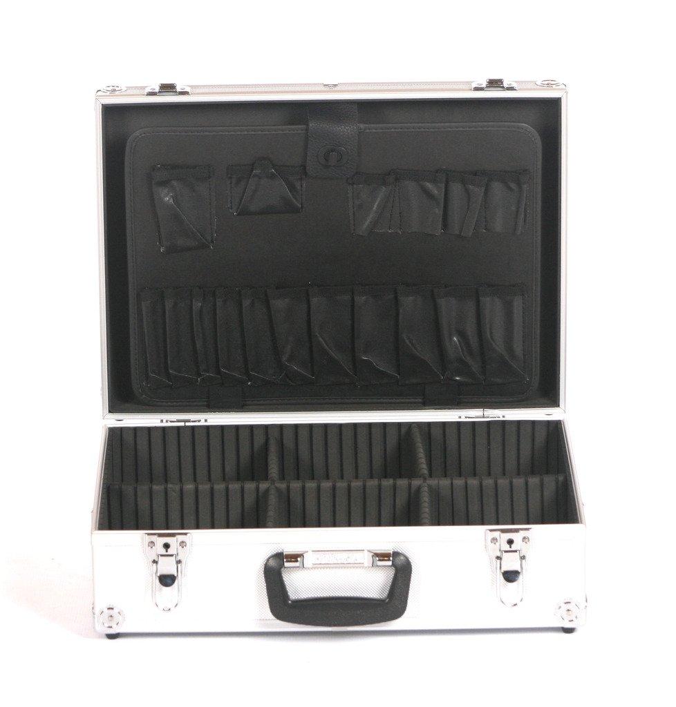 Estudio x ALUMINIO electricistas JUNTAS Comerciante Toolbox Caja Almacenaje Maletín de vuelo PLATA: Amazon.es: Bricolaje y herramientas