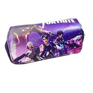 Fortnite Estuche para lápices Mallalah Fortnite Estuche Impermeable Papelería Fortnite Caja de lápiz Impresión Bolsa de