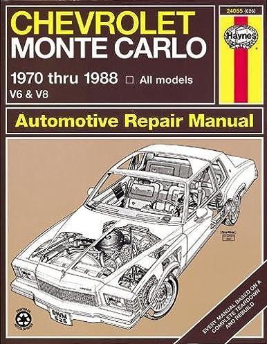 chevrolet monte carlo 70 88 haynes repair manuals haynes rh amazon com 2005 chevy monte carlo repair manual 2000 chevy monte carlo repair manual