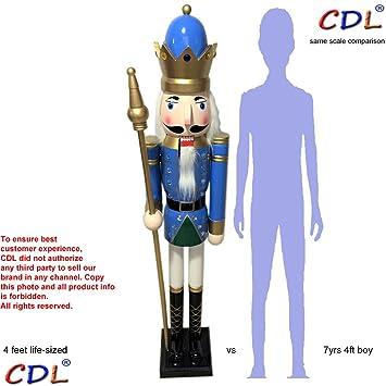 cdl 48 4ft tall life size largegiant blue christmas wooden nutcracker king