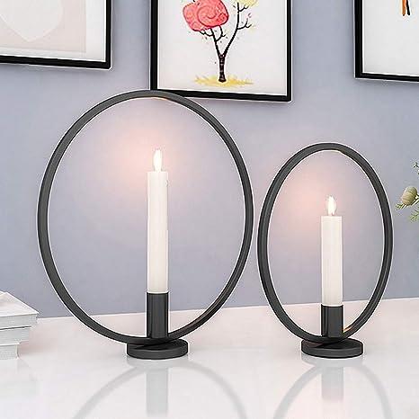 Gomaihe Retro Kerzenhalter 2 Set In Unterschiedlicher Größe 2923cm Antik Kerzenständer Eisen Deko Rund Geformt Kerzenleuchter Kerzen Ständer