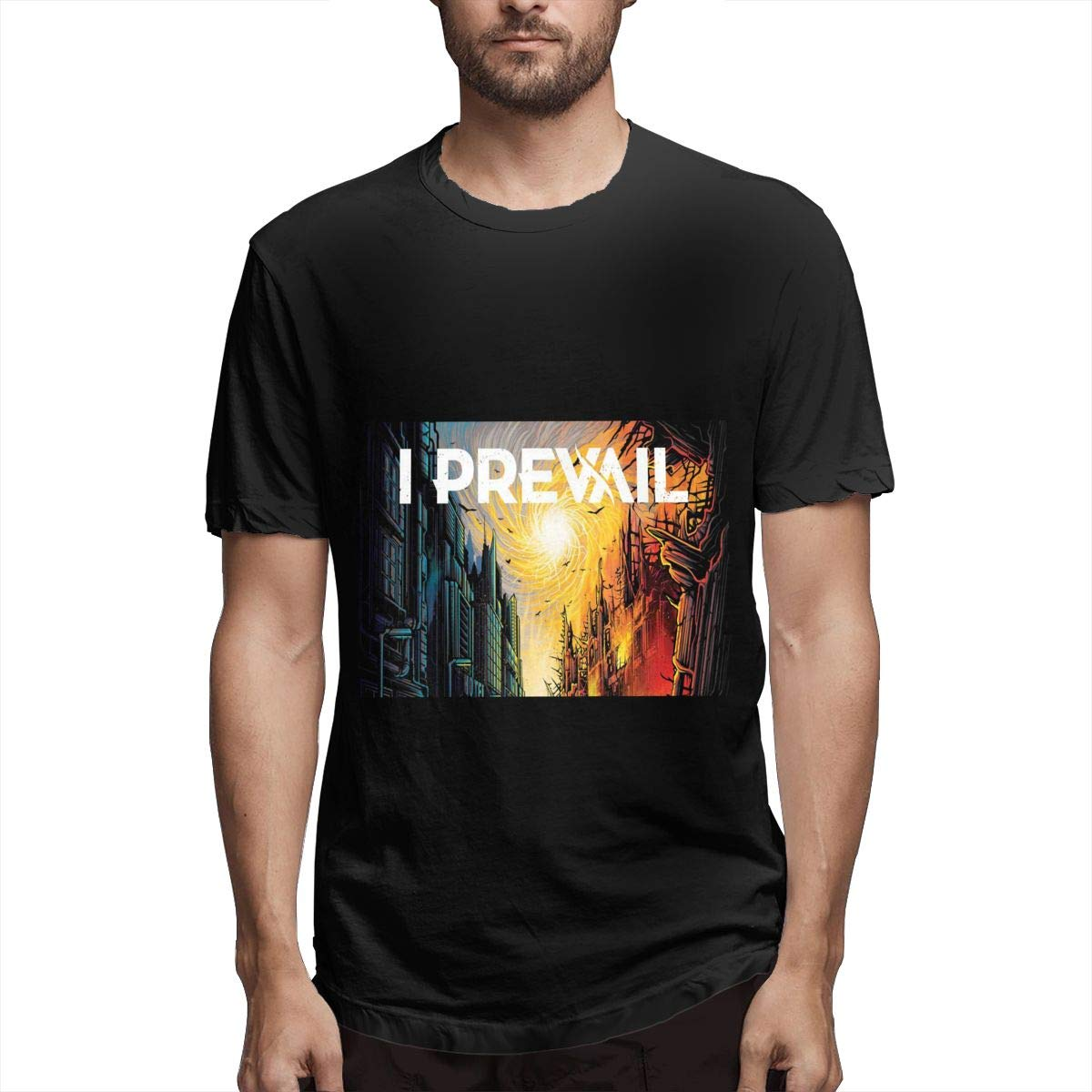 Lihehen Mans I Prevail Simple Casual Round Neck Shirts