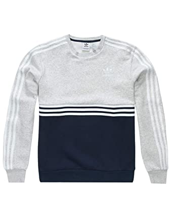 2adef6e76c6d58 adidas Originals Kids Boy s Authentic Crew (Little Kids Big Kids)  Collegiate Navy