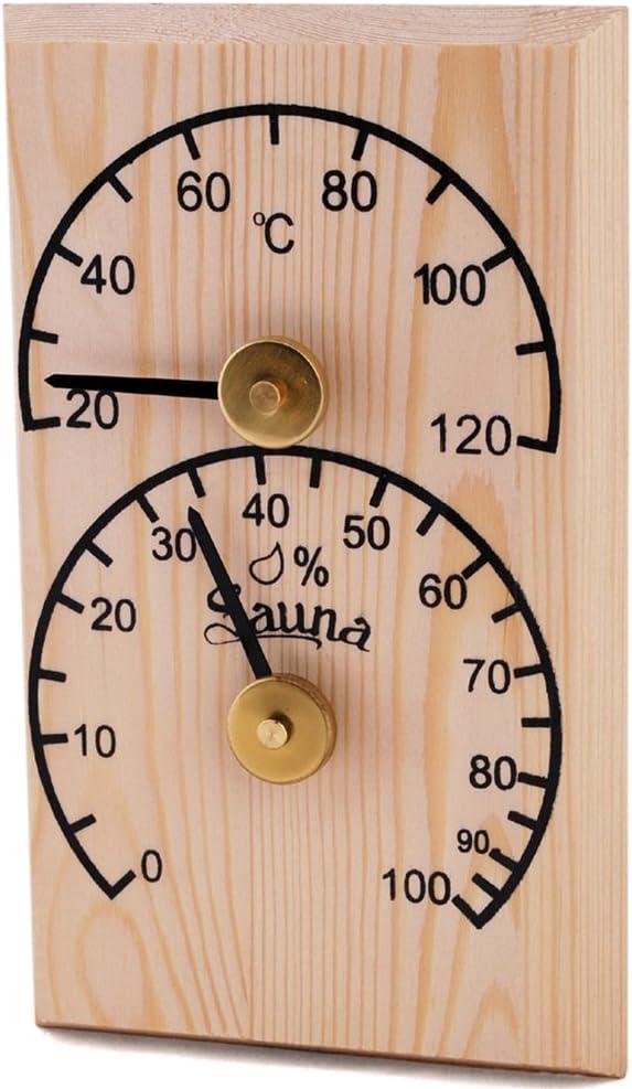 Pin SAWO Sauna Thermo-Hygrom/ètre 106-THBP Rectangulaire