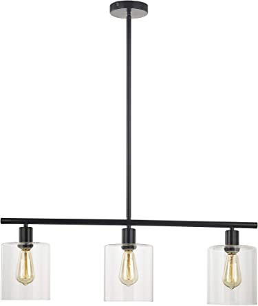 Amazon Com Leezm Rustic Industrial Chandeliers Modern 3 Light Glass Shades Pendant Lighting Vintage Farmhouse Adjustable Wire Ceiling Light Hanging Lamp For Dining Rooms Bedrooms Living Room Kitchen Island Black Home Improvement