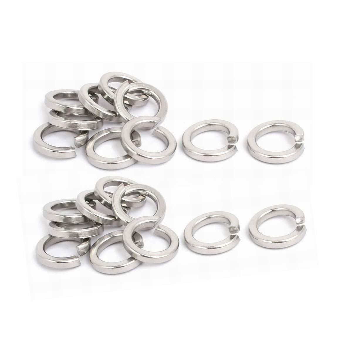 M5 Stainless Flat Spring Lock Washers, 18-8 (304) Stainless Steel, 0.2'ID,100Pack (M5) 0.2ID, 100Pack (M5) ZLYY