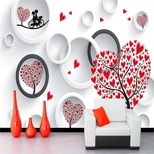 Cucsaistat Mural Pegatinas De Pared Amor Pareja Corazón Árbol 3D ...