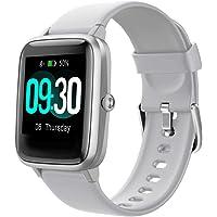 Willful Smartwatch,Reloj Inteligente con Pulsómetro,Cronómetros,Calorías,Monitor de Sueño,Podómetro Monitores de…