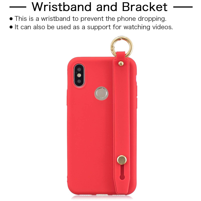 Funda Xiaomi Mi A2 Rosa Verde 2 Pack Fundas M/óvil Antigolpes Suave Flexible TPU Cubierta Caja Tapa Caso Carcasa para Xiaomi Mi A2 Silicona con Correa de mu/ñeca Leton