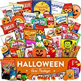 #5: Halloween Care Package (55 count) - Trick or Treat snack box with candy, cookies, chips, crackers, and more for kids, girls, boys, and college students.