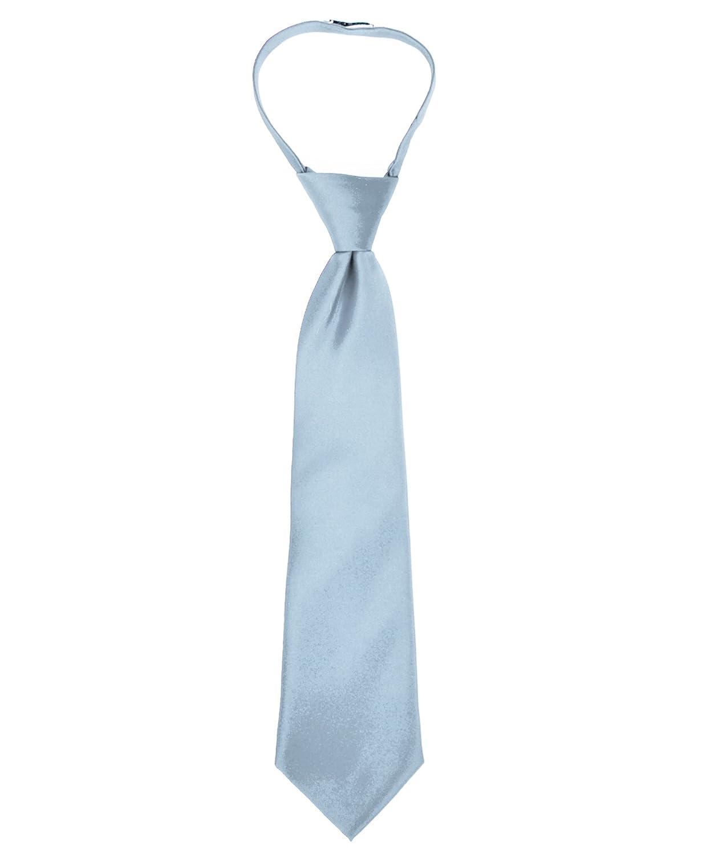 Boy's Solid Multi Color Zipper Ties