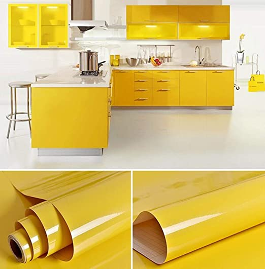 Vinyl Gloss Self Adhesive Wallpaper Wall Stickers Kitchen Cabinet Waterproof
