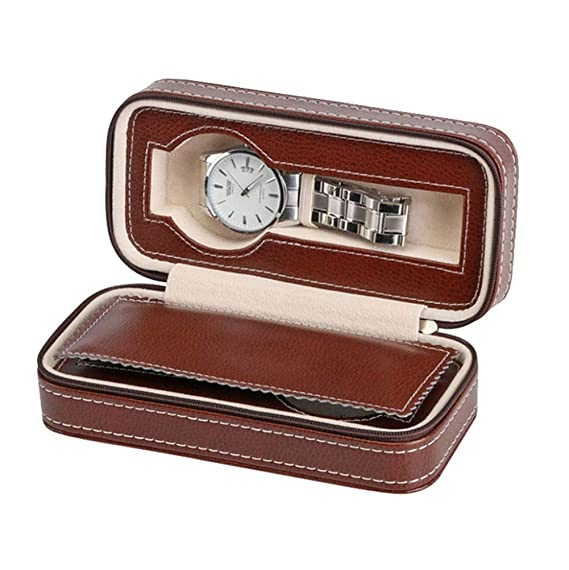 2 Rejillas Caja De Relojes, Elegante Cuero De Imitación ...