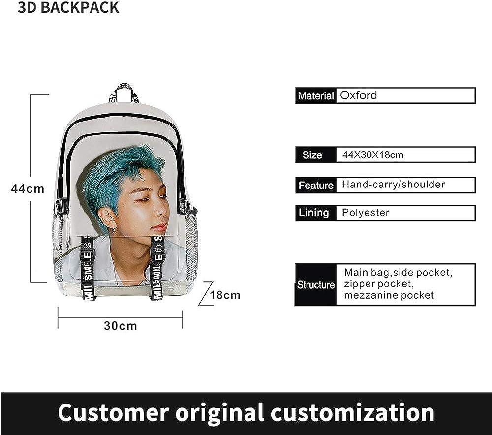 Kpop BTS Bangtan Boys Dynamite 3D Casual Backpack SUGA RM JIN JIMIN V JUNG KOOK J-HOPE Rucksack Students College Bags