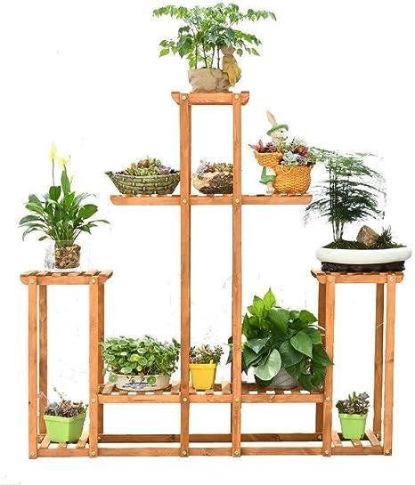 ANXWA Soporte De Madera para Plantas Estantería para Macetas Flores con Estantería Decorativa para Jardín Balcón Exterior Interior Bastidor para Macetas,108 * 23 * 108cm: Amazon.es: Hogar