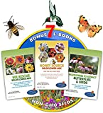 Wildflower Seeds Bulk + 7 BONUS Gardening eBooks + Open-Pollinated Wildflower Seeds, 1oz Packets, Non-GMO, No Fillers, Annual, Perennial Wildflower Seeds Year Round Planting, Bees Pollinators