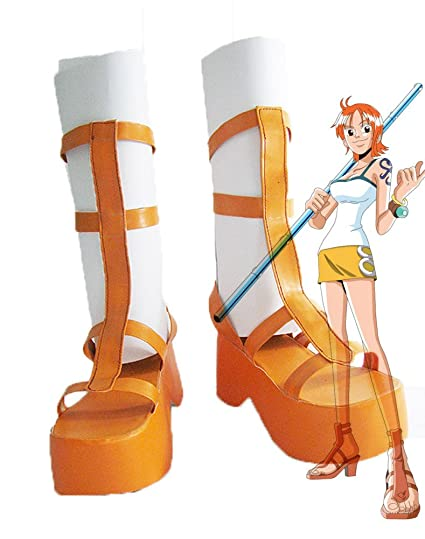 One Piece Anime Nami Cosplay Shoes Boots Custom Made 1