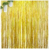 Best Funs For Parties - Gold Foil Fringe Curtains,Fun Photo Booth Props,Gold Birthday Review