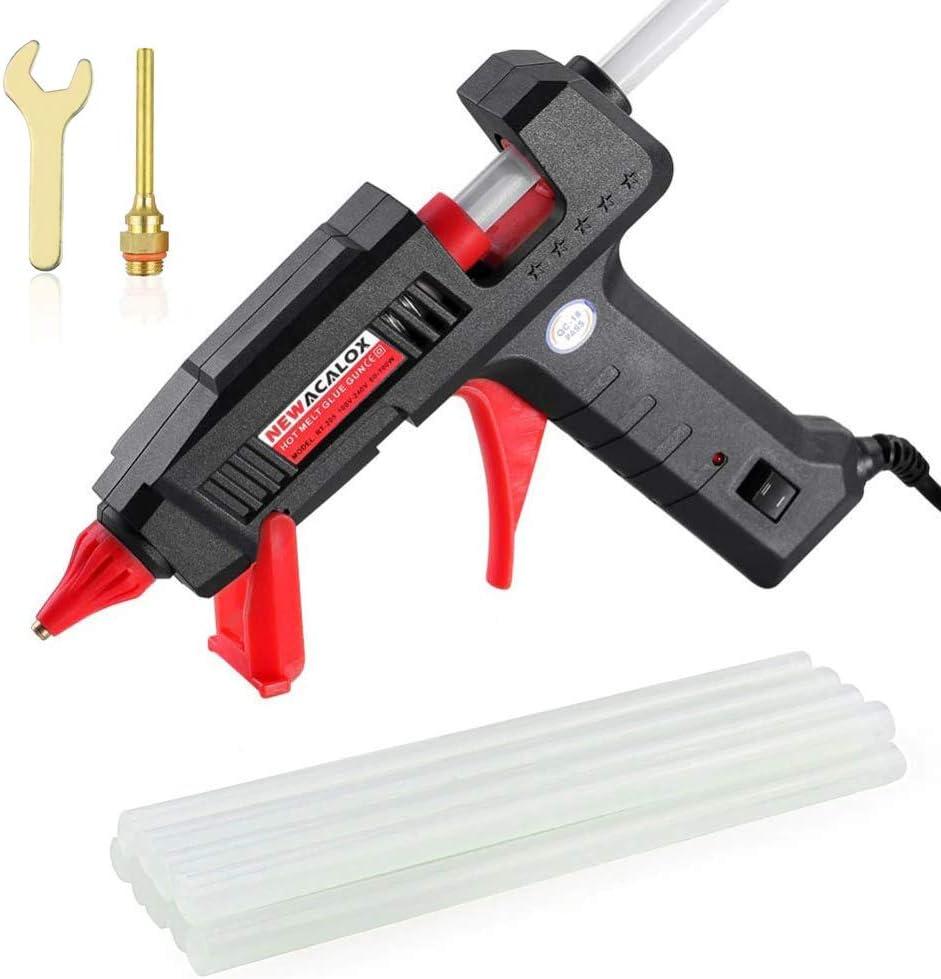 Hot Glue Gun, Full Size Dual Power 60/100W Heavy Duty Melt Glue Gun Kit, with 10 Pcs Glue Sticks, Copper Glue Gun Nozzle for DIY Arts & Crafts, Household Appliances