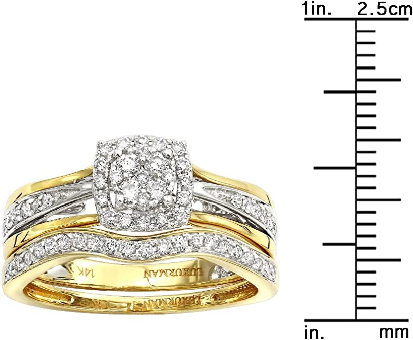 14k Two-Tone Gold Luxurious and Gorgeous Wedding Engagement Anniversary Band for Men with  White Diamonds Item # BL-02