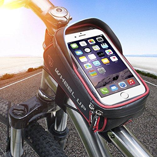 LUFA Mountain Bike Fahrrad Rahmen Tasche Touch Screen Telefon Tasche Top Tube Wasserdichte Front Zipper Aufbewahrungsbeutel für 6,0 Zoll Telefon und unten