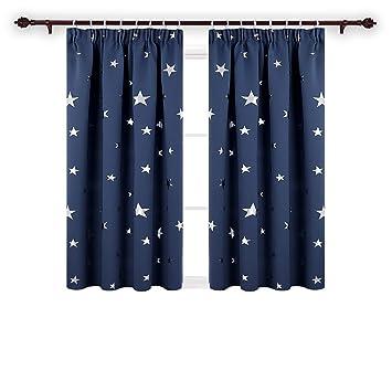 Amazonde Deconovo Vorhang Blickdicht Gardinen Sterne