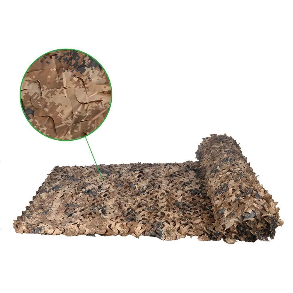 XIAOYAN Camo Nets, Woodland & Lawn Camouflage Netting Parasole per Decorazioni Militari (Dimensioni   3×8m)