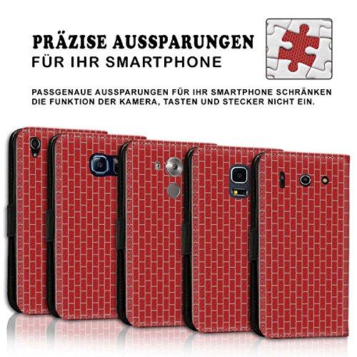 Wallet Book Style Flip Handy Tasche Case Schutz Hülle Schale Motiv Etui für Apple iPhone 5 / 5S - Design Flip MV266