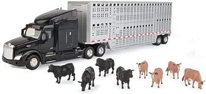 Ertl 1//32 Semi With Cattle Trailer /& Animals
