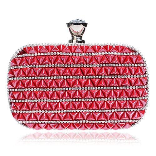 Flada - Cartera de mano para mujer multicolor colorido mediano Red
