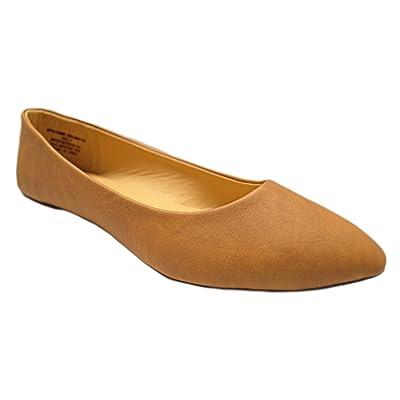 Charles Albert Womens Flats Semi Pointed Almond Toe Ballet Comfort Soft Slip On Flats for WomenShoes | Flats