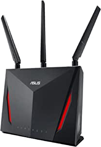 ASUS AC2900 WiFi Gaming Router (RT-AC86U) - Dual Band Gigabit Wireless Internet Router, WTFast Game Accelerator, Streaming, AiMesh Compatible, Included Lifetime Internet Security, Adaptive QoS