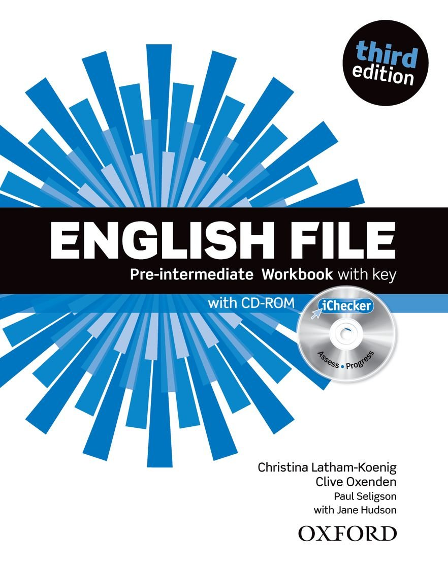 English File third edition: English File 3rd Edition Pre-Intermediate. Workbook with Key and iChecker (Inglés) Tapa blanda – 1 ene 2012 Clive Oxenden Christina Latham-Koenig Paul Seligson S.A.