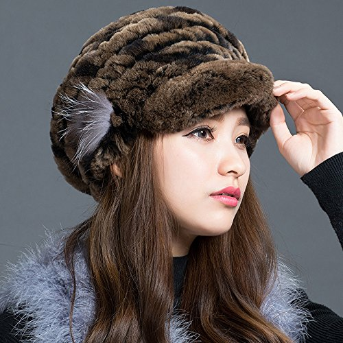 Wuyulunbi@ Ladies Winter Hat Beret warm earmuffs thickened peaked cap,I For Christmas Present