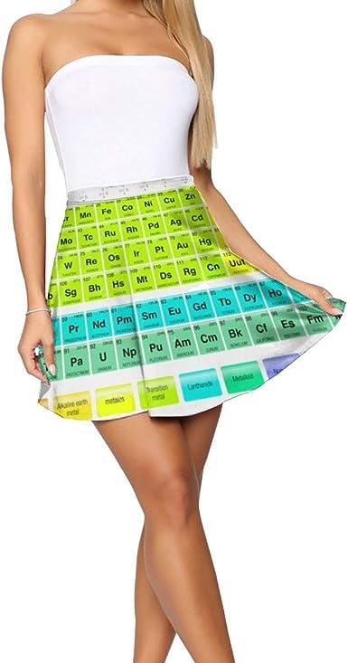 Falda Midi para Mujer de Tabla periódica de los Elementos, no se ...