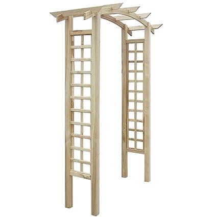 Anself Wooden Trellis Arch 150 X 50 X 220 Cm
