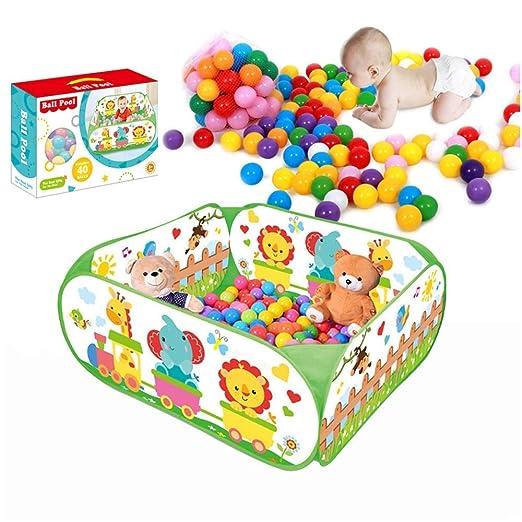 SIMPLE & Co Ball Pool Outdoor Play Tent Pit Ball Pool y niños / bebés en el Interior y al Aire Libre El Juguete Plegable para la Piscina de Bolas Incluye 40 ...