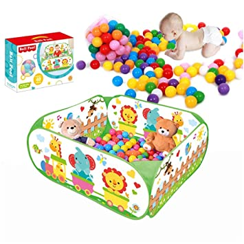 SIMPLE /& Co Ball Pool Outdoor Play Tent Pit Ball Pool and Children//baby Indoor /& Outdoor fold-able ball pool toy includes 40 colorful Balls