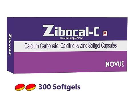 Buy Calcium Supplement Zibocal C 90180300 Softgels Calcium