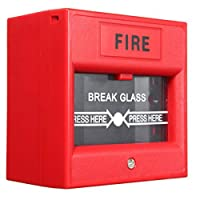 UHPPOTE Wired Security Button with Hands Break Glass For Emergency Fire Alarm Release