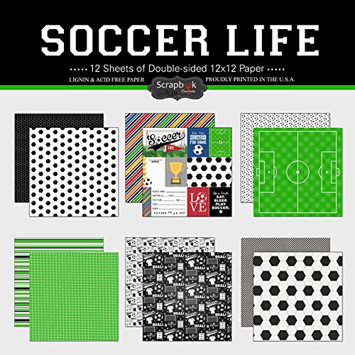 Scrapbook Customs Themed Paper Scrapbook Kit, Soccer Life