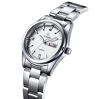 Qingmei WWOOR Women Watches Quartz Calendar Luminous Relogio Feminino Watch white