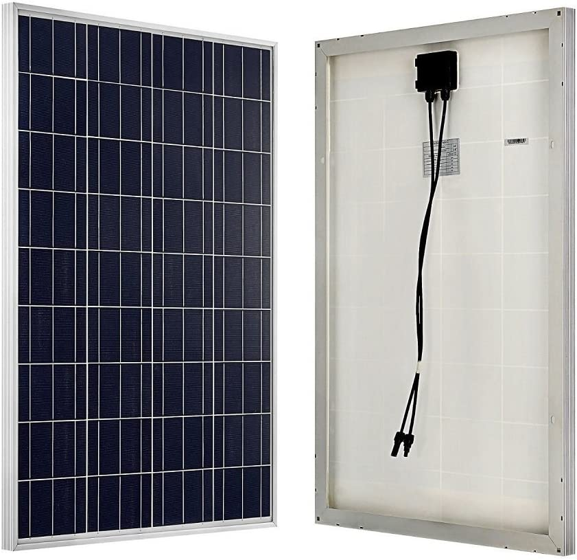 ECO-WORTHY 200W Solar Panel Off Grid System PV Combiner box 2Pcs 100w Solar Panel 15A charge controller