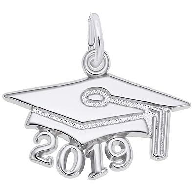 b1c0fa887 Amazon.com: Rembrandt Charms, 2019 Graduation Cap, Large.925 Sterling Silver,  Engravable: Jewelry