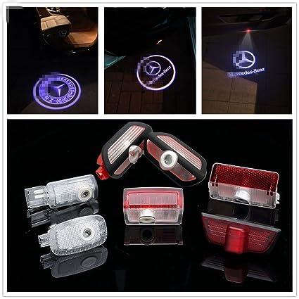 deleika 2pcs LED coche puerta cortesía lámpara de proyector láser ...