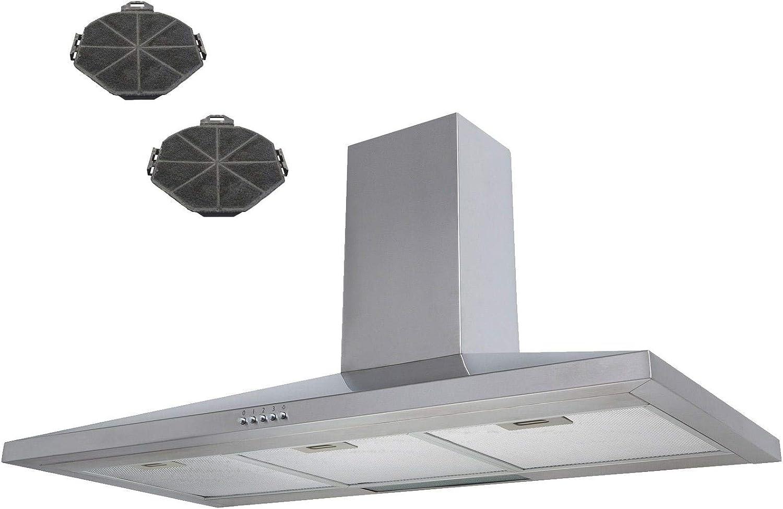 Sia 100 cm acero inoxidable chimenea campana extractor + filtros de recirculación: Amazon.es: Grandes electrodomésticos