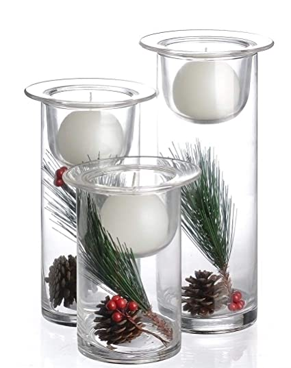 Amazon Hurricane Candle Holders With Replaceable Holiday