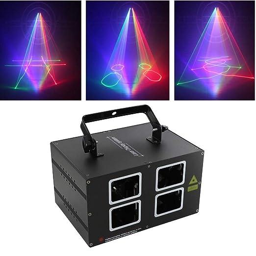 RGB Luces del Partido, 4 Lente 72 Patrones de DJ del proyector luz ...